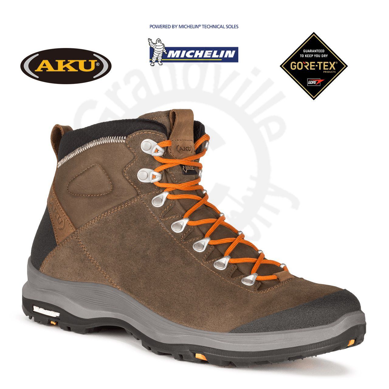 f73960b6f24 Aku  AKU La Val GTX Brown Treková obuv 42   8