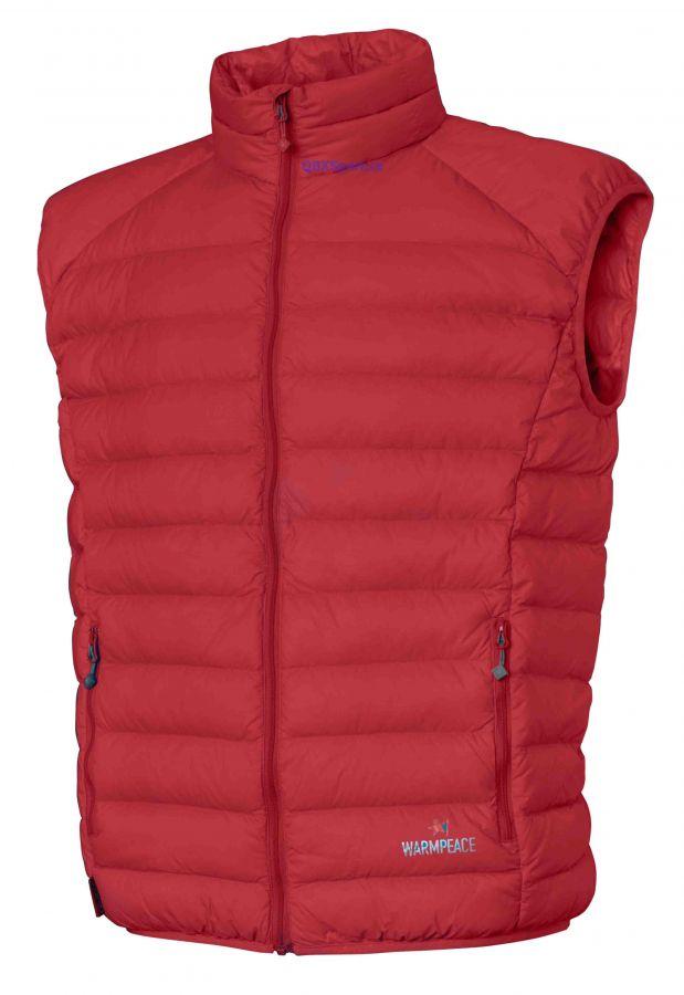 Outdoorix - Péřová vesta Warmpeace Drake red