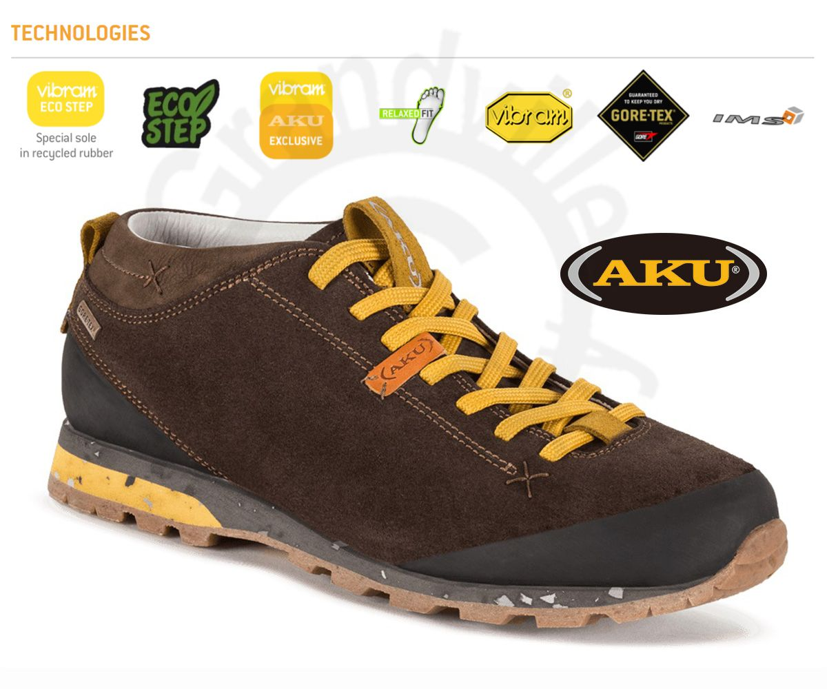 Outdoorix - AKU Bellamont Suede GTX Dark brown / Yellow